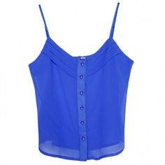 New Womens Sexy Style Candy Color Blouse Chiffon Strap Vest Shirts Tops