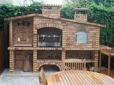 My-Barbecue-Barbecue Rustique avec Four FR001F #cocinasrusticasladrillo
