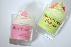Bomb Cosmetics Glass Candles: Gingerbread Cookies & Ripple-Licious   Il Blog di I.