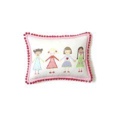 The Little Acorn Multi Girls Pillow | AllModern
