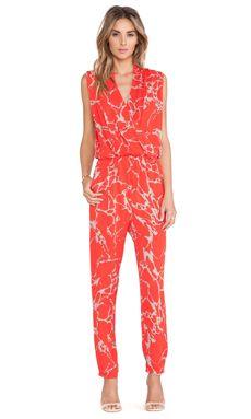 dbfdf6da48de Karina Grimaldi Odella Print Jumpsuit in Red Stone Printed Jumpsuit