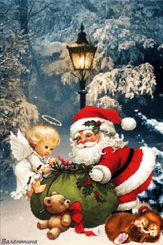 Santa Christmas, Christmas Images, Christmas And New Year, All Things Christmas, Vintage Christmas, Christmas Time, Christmas Cards, Santa Claus Photos, Santa Pictures