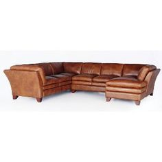 Camel Brown Leather 3-Piece Sectional - Sierra