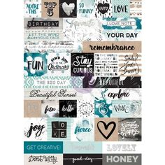 Prima - Zella Teal Collection - Cardstock Stickers - Words