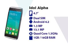 Alcatel One Touch, Android 4, Dual Sim, Quad, Facebook, Point Of Sale, Quad Bike
