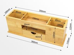 Woodworking Projects Diy, Diy Wood Projects, Woodworking Plans, Wooden Desk Organizer, Bois Diy, Desk Tidy, Office Accessories, Wooden Crafts, Desk Organization