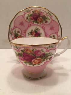 Royal Albert Bone China Rose Cameo Pink Tea Cup and Saucer