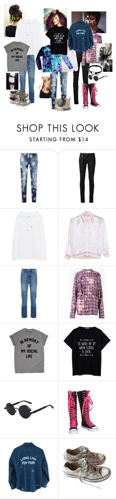 """""""Untitled #480"""" by thewonderinggirl ❤ liked on Polyvore featuring Philipp Plein, Yves Saint Laurent, Acne Studios, Sandro, Faith Connexion, Salt Water Sandals, Converse and Rocket Dog"""