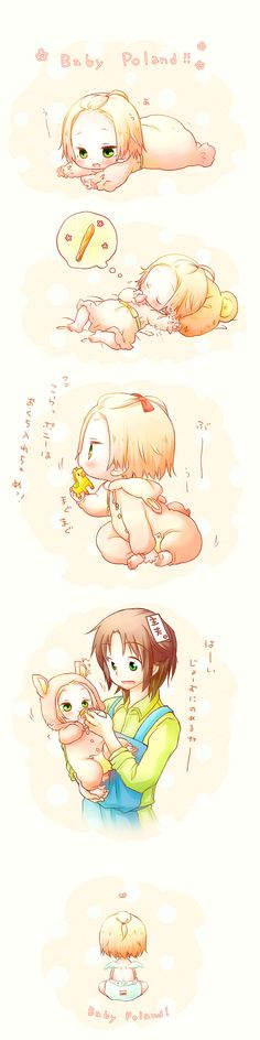Baby Poland and Lithuania - so cute!!! :D #Hetalia