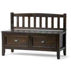 Beachcrest Home Santa Cruz Solid Wood Drawer Storage Bench & Reviews | Wayfair Bench With Drawers, Wood Drawers, Storage Drawers, Large Drawers, Entryway Bench Storage, Bench With Storage, Storage Benches, Burlington Furniture, Dakota