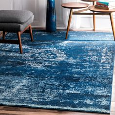 nuLOOM Traditional Overdyed Medallion Blue Runner Rug (2'8 x 8') (Blue), Size 2' x 8' (Synthetic Fiber, Oriental)
