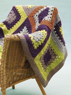 Free Crochet Pattern 90257AD Tinton Falls Throw : Lion Brand Yarn Company