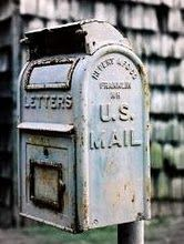 mail... I remember when my mom could tape coins to the envelop to cover postage and the post office would put the stamp on for her.