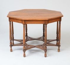 ENGLISH ARTS AND CRAFTS OCTAGONAL OAK CENTER TABLE, C. 1920 - Price Estimate: $1200 - $1800