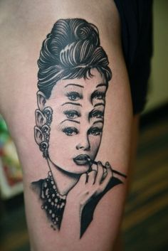 Awesome or creepy? Creepily awesome? #tattoo #audrey