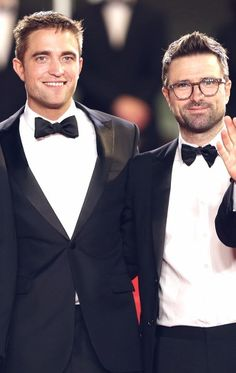 Robert Pattinson and director David Michod at 'The Rover' premiere, Cannes 5/18/14