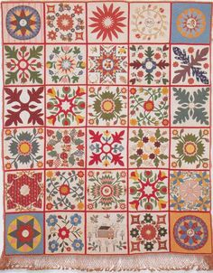 Friendship Quilt, 1852. Made by Ladies of Emmaus Church. New Kent Co, Virginia. Quilts of Virginia 1607-1899.