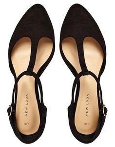 Image 3 of New Look Jupiter Black T Bar Flat Shoes