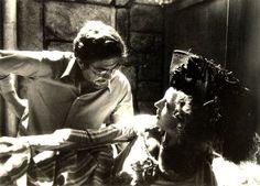 Ettore Scola and Hanna Schygulla  on set: La nuit de Varennes (Il mondo nuovo) 1982.