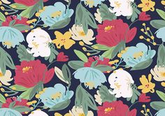Print summer pattern by Laura Inat on Behance