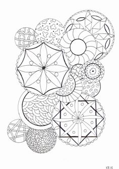 Adult colouring page - circles by KafsKrafts on Etsy