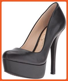 Jessica Simpson Women's Meave Dress Pump, Black Leather, 10 M US - Pumps for women (*Amazon Partner-Link)