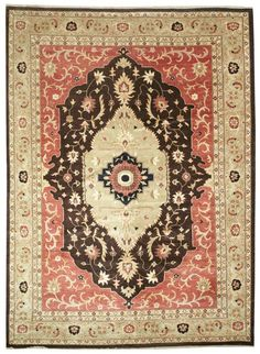 Persian Medallion Rug (also called Kashan): Origin:Iran and Pakistan Size: Varies Colors: Diverse palette of 15-25 colors Design: Floral motifs with unique central medallion