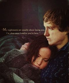 Cried in the book & in the movie. :(  Peeta is just extraordinary.