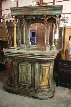 Sarasota Architectural Salvage - Tall Bar Back ...can't wait to visit this awesome store!