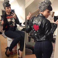 Gefällt 568 Mal, 23 Kommentare - Pin-Up ✦ Kitty Wunderlich (Kitty Blackmore.good) Big Abaddon vibes here today Looks Rockabilly, Mode Rockabilly, Rockabilly Outfits, Rockabilly Fashion, Retro Fashion, Vintage Fashion, Rockabilly Clothing, Pin Up Fashion, Modern 50s Fashion