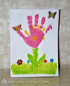 8 марта. поделки с детьми Baba Marta, Body Drawing, Baby Feet, Infant Activities, Plastic Cutting Board, Berries, Frame, Flowers, Blog
