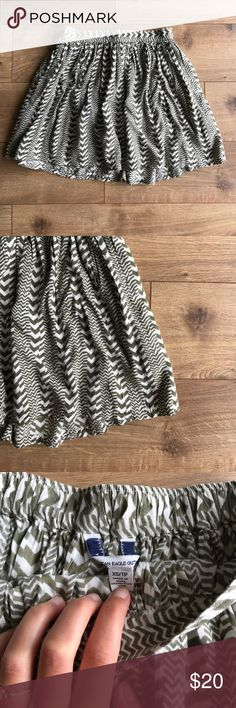 Chevron print circle skirt Very soft and flowy material. Plus it has pockets! Work maybe twice. Excellent condition. American Eagle Outfitters Skirts Circle & Skater