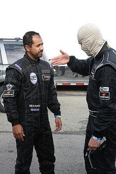 Roger Rodas and Paul in his ninja mask