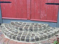 Trappa av betong/gatsten