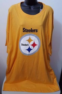 NFL Team Apparel NWT Men's Big & Tall Pittsburgh Steelers T-Shirt Size 4X #NFLTeamApparel #PittsburghSteelers