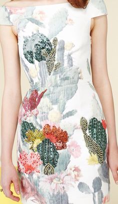 Cactus Dress. Nimue Smit for the Matthew Williamson Resort 2014 Collection