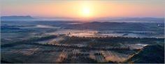 Sunrise above the Sunduki.<br>Khakasia. The Eastern Siberia. Russia.