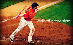 A grand walk-off! I want a game used pink bat soooo badly!!!