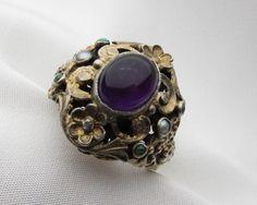 Austro Hungarian Amethyst Ring