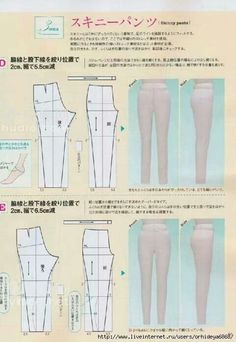 Japanese book and handicrafts - style book 2011 springBasic patterns from mrs style book Sewing Pants, Sewing Clothes, Diy Clothes, Clothes Women, Fashion Sewing, Diy Fashion, Diy Pantalon, Japanese Sewing Patterns, Couture Sewing