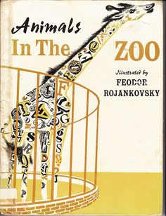 vintage kids book Feodor Rojankovski by OnceUponABookshop. Vintage and a giraffe!