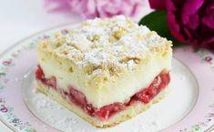Short pastry with pudding and strawberries Short Pastry, Apple Cake, Love Cake, Vanilla Cake, Tiramisu, Biscotti, Cheesecake, Strawberry, Pudding