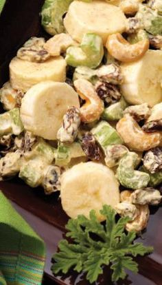 Curried Banana Salad Cooking Recipes, Healthy Recipes, Healthy Meals, Yummy Recipes, Healthy Food, Healthy Eating, African Salad, Banana Curry, Banana Salad