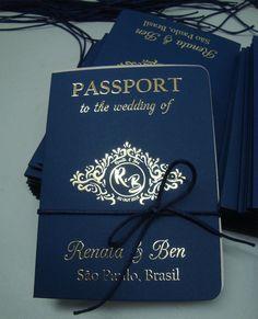 Convite modelo passaporte,