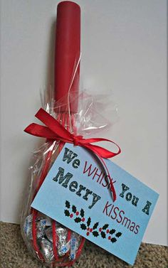 and Inexpensive DIY Christmas Gift Idea + Free Printable Cute Holiday Gift Idea! We whisk you a Merry Kissmas. We whisk you a Merry Kissmas. Teacher Christmas Gifts, Homemade Christmas Gifts, Homemade Gifts, Teacher Gifts, Holiday Fun, Holiday Gifts, Christmas Holidays, Merry Christmas, Simple Christmas Gifts