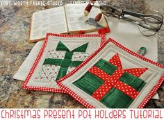 Christmas Pot Holder Tutorial - Fort Worth Fabric Studio - Lindsey Weight