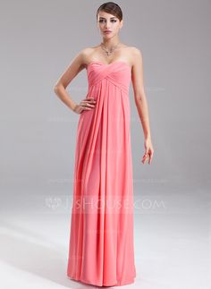 Bridesmaid Dresses - $99.99 - Empire Sweetheart Floor-Length Chiffon Bridesmaid Dress With Ruffle (007051848) http://jjshouse.com/Empire-Sweetheart-Floor-Length-Chiffon-Bridesmaid-Dress-With-Ruffle-007051848-g51848