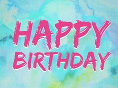 Happy birthday (Pain font, shadow)