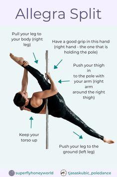 Pole Fitness Moves, Pole Dance Moves, Pole Dancing Fitness, Dance Tips, Sport Fitness, Pole Classes, Pole Sport, Pole Dance Wear, Pole Tricks