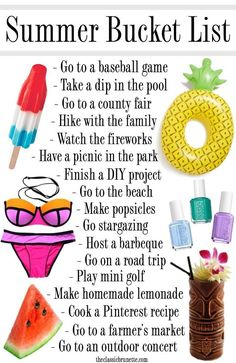 Need some inspiration for what to do this Summer? Check out the Ultimate Summer Bucket List for 2016 for fun things to do with friends and family and make some great memories! ideas The Ultimate Summer Bucket List for 2016 Summer Fun List, Summer Kids, Summer Goals, This Summer, Summer Bucket List For Teens, Fun Bucket List Ideas, 2017 Goals Bucket Lists, Summer Beach, Summer Plan